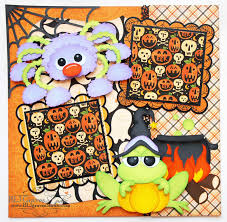 blj graves studio spider halloween scrapbook page