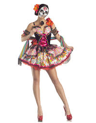 Mexican Woman Halloween Costume Dead Mexican Holiday Womens Halloween Costume