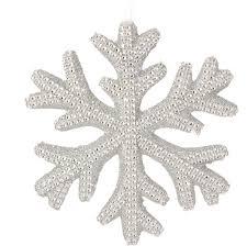 6 silver snowflake ornament