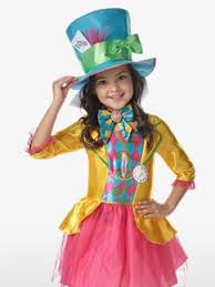 Mad Hatter Halloween Costume Girls Alice Wonderland Fancy Dress Party Delights