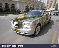 wedding car decoration royce rolls stock photo royalty free image