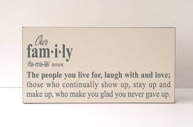 Live Laugh Love Signs Our Family Wood Sign Family Definition Signwood Plaque