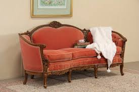 Tufted Vintage Sofa by Sold Carved U0026 Tufted Mohair 1940 U0027s Vintage Sofa Harp Gallery