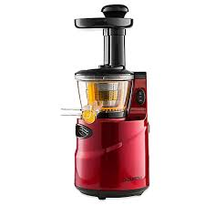 Juicer Bed Bath And Beyond Gourmia Masticating Gsj200 Slow Juicer In Red Bed Bath U0026 Beyond