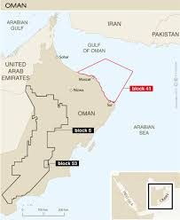 middle east map gulf of oman oman s average output exceeds 1mn bpd in 2016 data