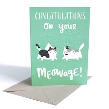 wedding card with cats by miümi cat notonthehighstreet