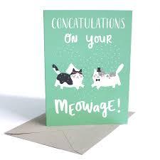 wedding card with cats by miümi cat notonthehighstreet