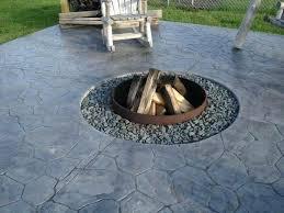Diy Concrete Patio Concrete Patio Fire Pit U2013 Jackiewalker Me