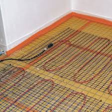 mise en oeuvre d un plancher rayonnant électrique