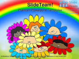 diversity of flowers children powerpoint templates themes and