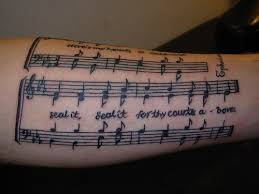 sheet music forearm tattoo tattoos pinterest forearm tattoos
