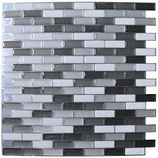 Kitchen Backsplash Stick On Tiles Peel And Stick Tile Backsplash Frugal Family Times How To Install