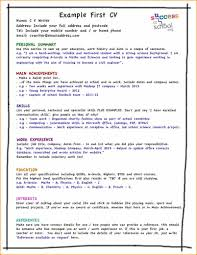 resume hobbies and interests sample sample of cv form for first job basic job appication letter take a look at our list of cv do s and