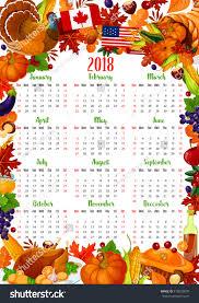 calendar template thanksgiving day frame stock vector
