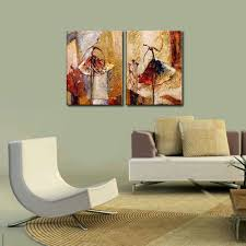 Wall Hangings For Living Room by Amazon Com Wieco Art Ballet Dancers 2 Piece Modern Decorative