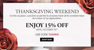 lancome thanksgiving with a twist milled