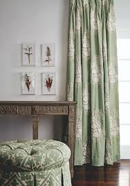 decorating wonderful paisley curtains for home interior design pale green paisley curtains with tufted ottoman and console table for home interior design ideas