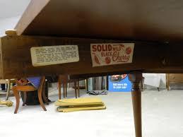 henkel harris solid wild black cherry dining table u2013 jenkins antiques