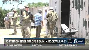 fort hood intel roops train in mock willages youtube