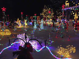 christmas house with lights in sync to music video backpacker