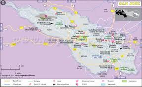 san jose costa rica on map san jose map map of san jose city costa rica