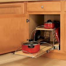 Cabinet Organizers For Pots And Pans Slide Out Pot And Pan Caddy For Kitchen Base Cabinetr By Knape