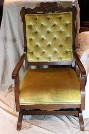Antique Nursing Sewing Rocker Small Star Pattern Seat Wicker Rocking Chair With Cushion Vintage U2013 With A Past