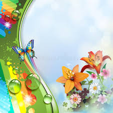 lilies and butterflies stock vector illustration of 29306284
