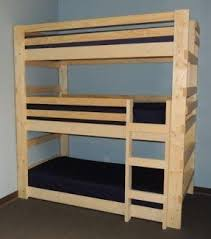 Three Tier Bunk Bed 100 Bunk Beds For Sale Foter
