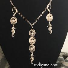 silver bracelet with pendant images Sale seahorse jewelry ocean jewelry silver earrings silver jpg