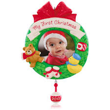 amazon com hallmark 2014 baby u0027s 1st christmas one cute cookie