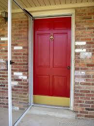 painting your front door the easy way the diy village painted metal storm door and front door home improvement