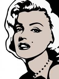 Marilyn Monroe Wall Sticker Famous Faces Marilyn Monroe Wall Decals Marilyn Monroe Pop Art