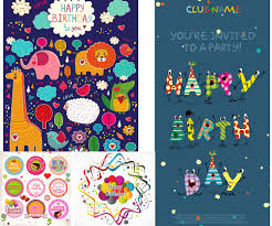 Birthday Card Ai Happy Birthday Cards Invitations Badges And Labels Vector Free
