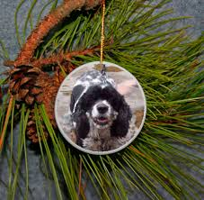 christmas ornament personalized ceramic round