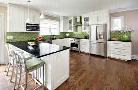 wonderful green backsplashes for modern kitchen design idea and