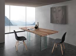Wohnzimmertisch Platte Tisch Mit Glas Beine Platte Aus Massivem Eschenholz Idfdesign