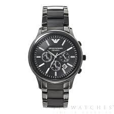 watches chronograph ar1451 emporio armani mens black ceramic chronograph