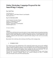 Marketing Campaign Proposal PDF Template net  middot  dissertation