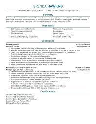 sample fitness instructor resume personal skills for resume