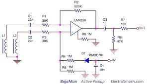 electric guitar wiring diagrams yamaha diagram vintage circuit