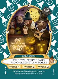 scary halloween music exclusive u0027country bears u0027 sorcerers of the magic kingdom card