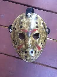 custom made jason voorhees friday the 13th hockey mask halloween