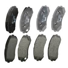 pagid front brake pads set low metallic nao mitsubishi fuso canter