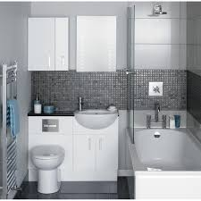 white vanity with sink fit in corner space for small bathroom idea