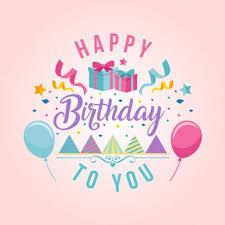 text birthday card colorful birthday card vector free