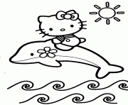 coloriage hello kitty dessin à imprimer gratuit