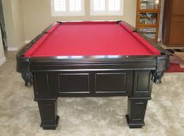 Red Felt Pool Table So Cal Pool Tables Gulf Black Pool Table