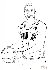 derrick rose coloring page free printable coloring pages