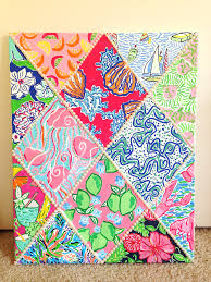 lilly pulitzer inspired 12 print canvas with pearls diy canvas lilly pulitzer inspired 12 print canvas with pearls